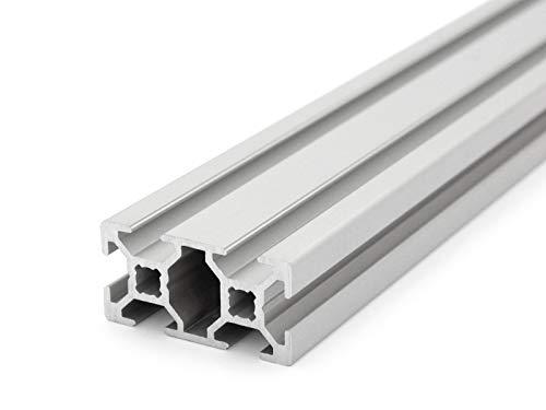 Aluminium profil 20x40 rainure de type B 6-2000mm Cut 50mm (10,00 EUR/m + 0,25 EUR par coupe, min 2,50 EUR) 600mm