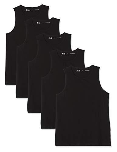 Marca Amazon - find. Camiseta de Tirantes con Cuello Redondo Hombre, Pack de 5