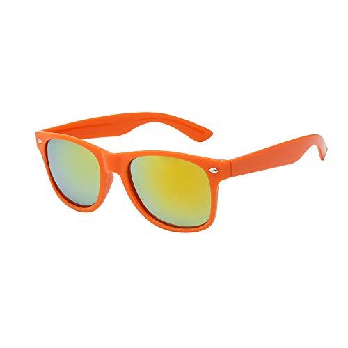 Neon Orange Wayfarer Style Sunglasses by ASVP Shop. Choice of Colours