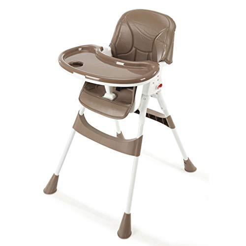 YShop Chaise Haute for bébé Pliable, Plateau à Profondeur réglable avec Dossier, siège Pliant for rehausseur Confort for Enfant en Bas âge ( Color : Brown )