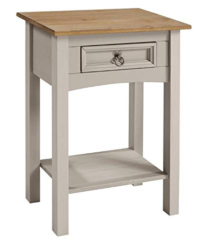 Corona Furniture Corona Grey Wax 1 Drawer Console Table