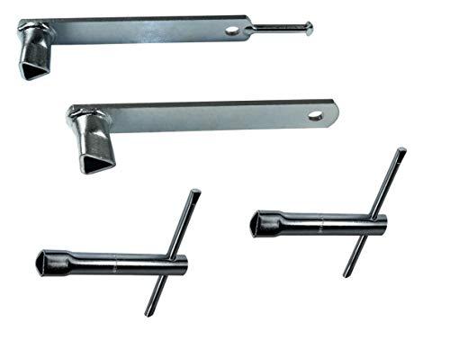 SN-TEC Dreikantschlüssel Set, Pfostenschlüssel, Feuerwehrschlüssel (4er Set)