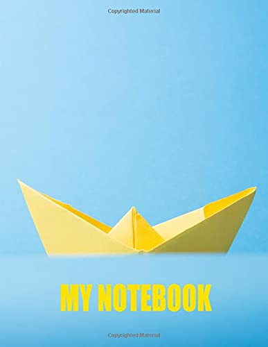 My Notebook. For Origami Lover. Blank Lined Planner Journal Diary.