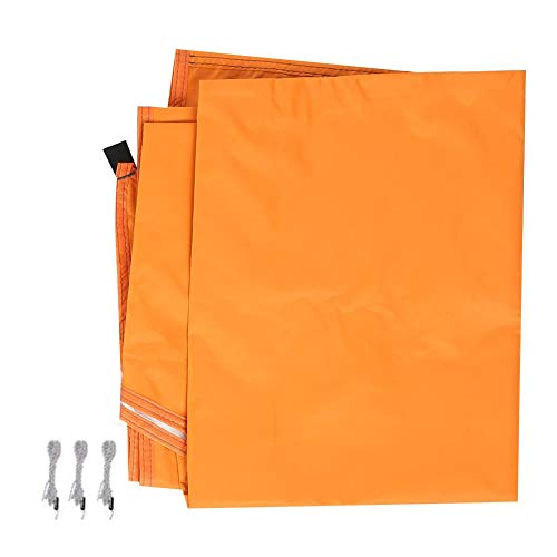 Nikou Tent luifel, outdoor zonwering, zeil, driehoekig, baldakijn, UV-bestendig, waterdicht, draagbaar zonnescherm voor campingtent oranje
