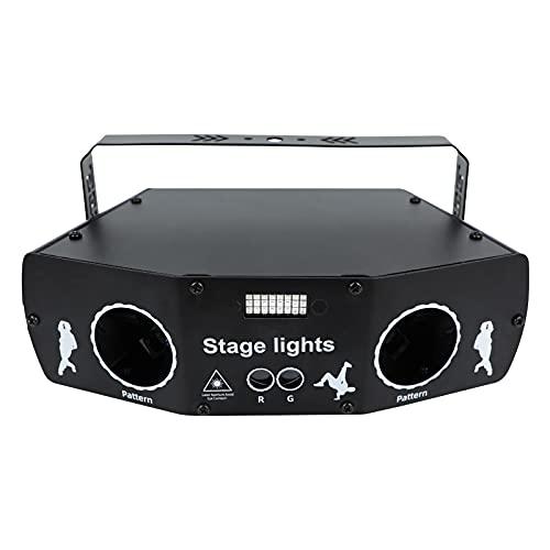 Party Lights Stage Laser Lights, RGB 5 Lens Remote Control DJ Disco Laser Stage Light Sound Activated Led Projector for Christmas Halloween Decorations Gift Birthday Wedding Karaoke KTV Bar (Black)