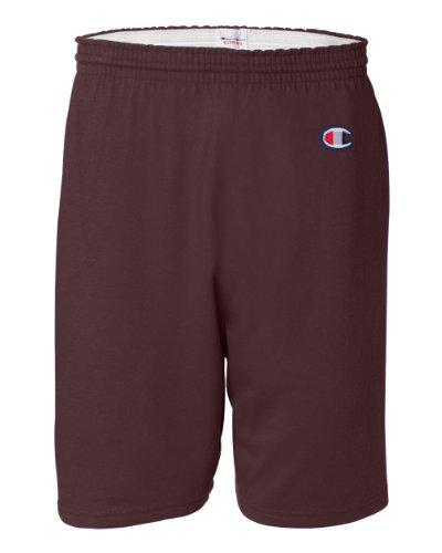 Champion Men's 6-Inch Maroon Cotton Jersey Shorts - XXX-Large