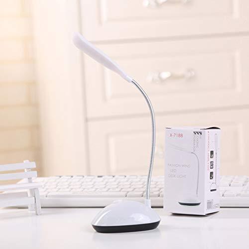 DALIN Flexible Mini-Schreibtischlampe mit Augenschutz, faltbar, 4 Farben