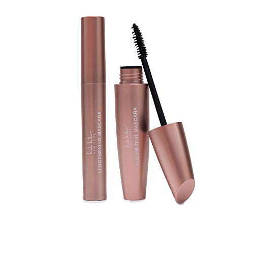 Nicole Miller Set of 2 Mascara Collection, Lengthening and Volumizing Two Piece Mascara Gift Set for Women and Girls