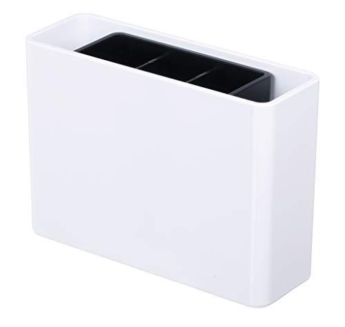 HAN Stifteköcher smart-Line 92120-12 in Weiß – Schreibtisch Stiftebox für das Büro mit 3 Fächern und verschiebbarem Innenköcher aus Kunststoff
