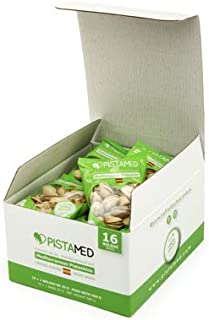 comprar comparacion Pistachos ecológicos PISTAMED - 560 gramos. Tostado artesanal SIN SAL - Origen España (15+1 bolsas de 35 gr. = 560 gramos)...