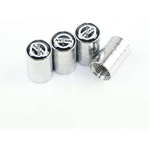 4 Piezas Coche Neumático Aluminio Tapas para válvulas con Logotipo, para Produktionspatrouille/X-Trail/Qashqai