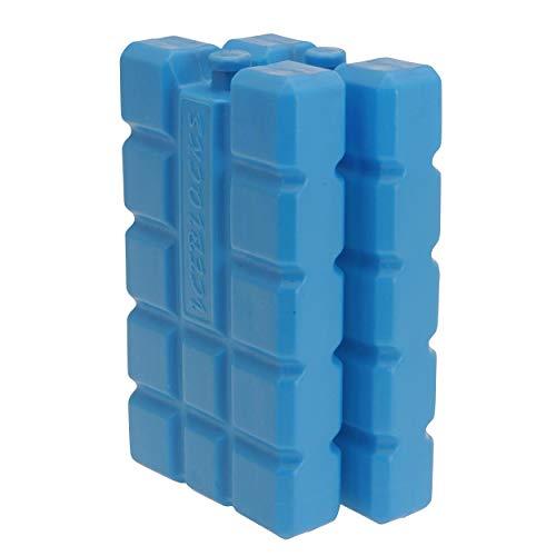 Oramics Kühlakkus Groß und Flach – je Kühlelement 400 ml – Kühlakku für Kühltasche und Kühlbox, Auslaufsichere Kühlpack zum Kühlen von Essen und Getränken (2 Stück)
