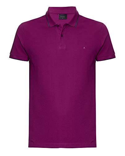 Camisa polo Listra na Gola, Aramis, Masculino, Uva C/ Marinho, G