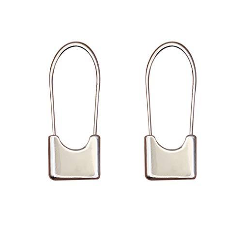 Galbla - Pendientes de aro de plata de ley 925 con cierre largo para mujer, 24 mm