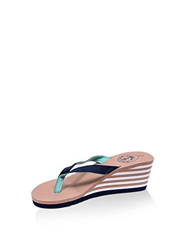 Noos Icon Damen Keil Sandalette, beige/Marine, 39 EU