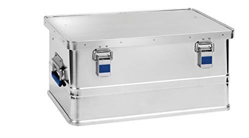 hünersdorff Aluminium-Box eco 48 Liter, wasserdicht mit Gummi-Dichtung, leicht, stabil, Klapphandgriffe, Vorbereitung für Schlösser, Farbe: silber