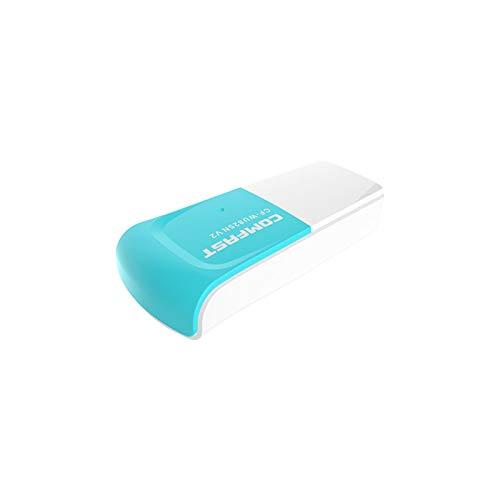 COMFAST Adaptador USB tarjeta de red Wi-Fi, inalámbrico 300 Mbps, 2,4 GHz, 1 antena interna, USB 2.0, Nano Dongle