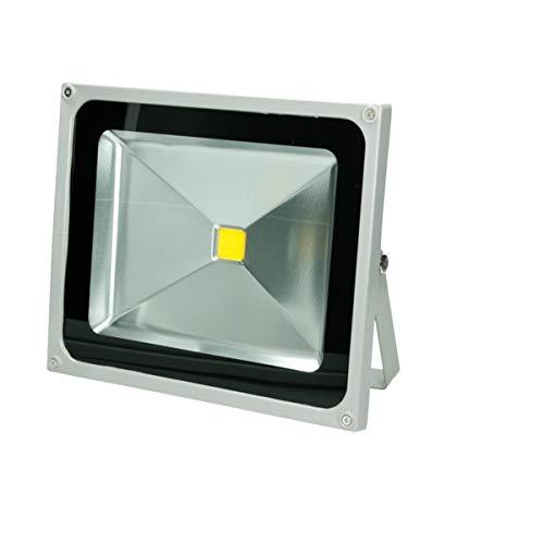 ECD Germany Projecteur LED 50W - 2840 Lumens - 6000K - Blanc Froid - AC 220-240V - Classe de protection IP65 - Étanche - Projecteur Mural pour Extérieur