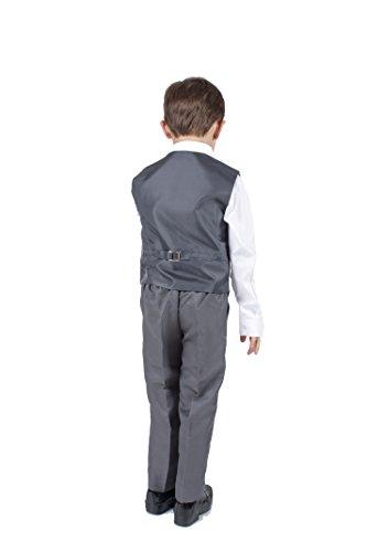 Boys Grey 4 Piece Waistcoat Suit (3-4 Years)