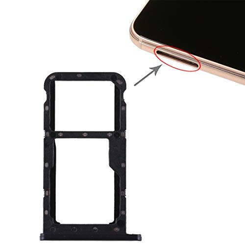 GuosB Bandeja de la Tarjeta SIM For Huawei Honor 8 Lite / P8 Lite 2017 Bandeja de la Tarjeta SIM y SIM/Bandeja de Tarjeta Micro SD (Negro) (Color : Pink)