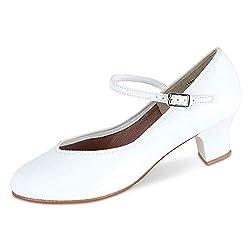 Danshuz Women's Tap Queen Mary Janes Leather Dance Shoes