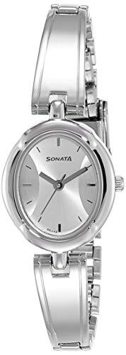 Sonata Essentials 2.0 Analog White Dial Women's Watch-8158SM01