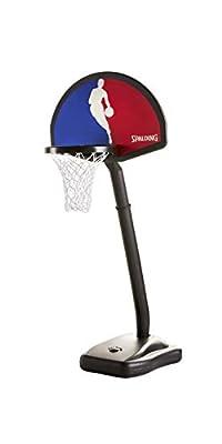 5HNBA5 Spalding One on One NBA Logo Man Portable Youth Basketball System