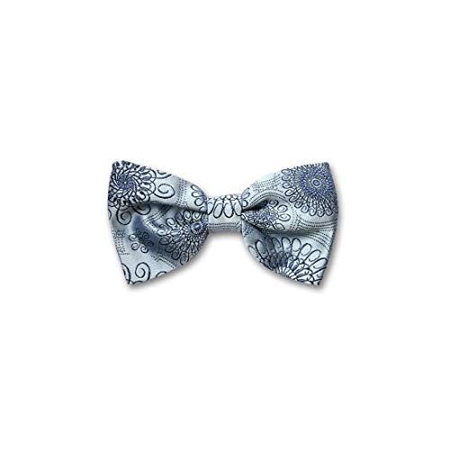 Robert Charles. Noeud papillon noué. Astoria, Soie. Bleu, Motifs. Fabriqué en Italie.