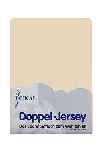 Dukal, Boxspring Spannbettlaken 180-200x200 cm, 100% Baumwolle, Farbe Natur