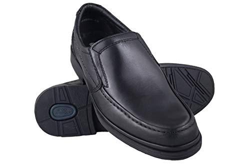 Zerimar Zapatos Hombres | Zapatos de Piel| Zapatos Vestir |Zapatos hostelería| Zapatos Confortables| Zapatos de camareros Color Negro Talla 41