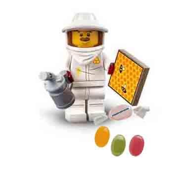 Lego® 71029 Minifiguren Serie 21 Figur Nr 7 Imker zusätzlich 1 x Sticker-und-co Fruchtmix Bonbon