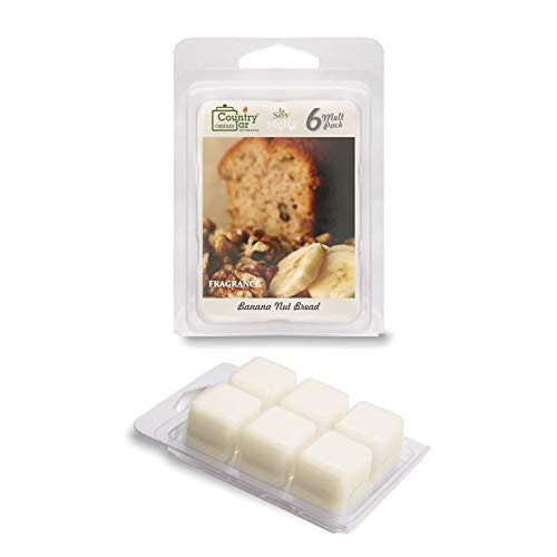 Country Jar Banana NUT Bread Soy Wax Melts (2.75 oz. 6-Cb.) Scented Fragrance Tarts : Winter Sale!