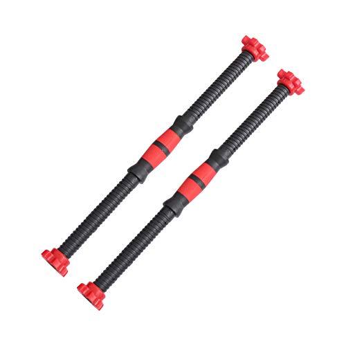 VICASKY 2 Pezzi 50cm da Acciaio Inossidabile con Manubri Cromati Manubri Manubri Collare Spinlock Set per Allenamento Sportivo Fitness Allenamento con Bilanciere