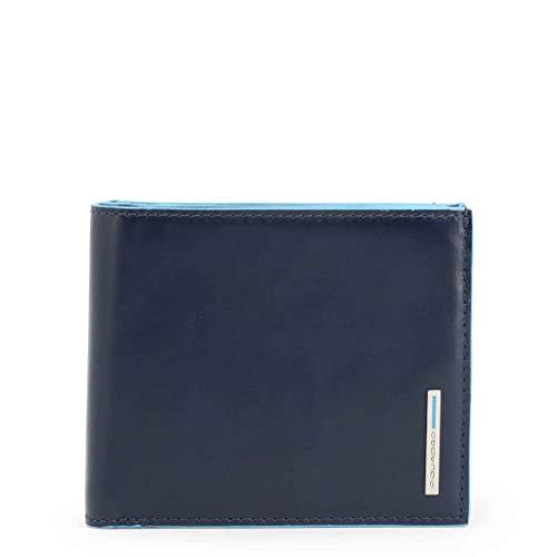 PIQUADRO Wallet with Coin Case quadrato blu Wallet with Coin Case Night Blue