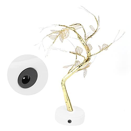 Lámpara de árbol Artificial, Forma de árbol romántica Forma de árbol Luz USB de Moda Funciona con Pilas para Habitaciones de niños Festivales, Bodas para decoración de Fiestas