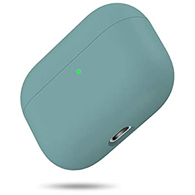 Liquid Silicone Case for AirPods Pro 2019, Triple Layer Hybrid Protective Hard Case Shockproof Cover Compatible with Apple AirPods Pro By miracase MOVING LIFE (Midnight Green) from Miracase Moving Life