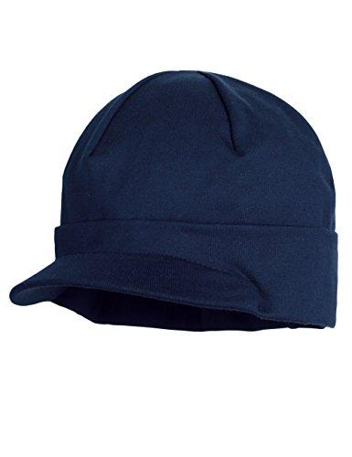 maximo Jungen Mütze mit Schild, Jersey, uni, UPF 50+, Gr. 51, Blau (dunkelmarine 11)
