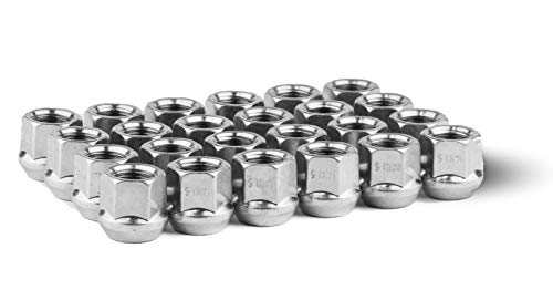 Race Secure 8609 Zinc Finish, M14x1.5 Thread, Open-End Acorn Bulge Wheel Lug Nut, 3/4' Hex, 60 Degree Conical Seat (Pack of 24)