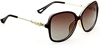 Veithida Retro Over-sized Polarized Womens Sunglasses 7026 - Brown