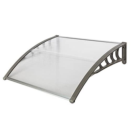 YUMEIGE Außen Tür Fenster Markise, Aluminium Polycarbonat-Tür-Vordach, Sonnenschutz/Regen-Schnee-Schutz/UV-Schutz-Tür-Markise, Braun (Size : 60x80cm WxL)