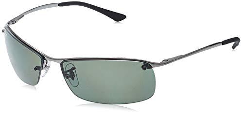 Ray-Ban bronce de cañón verde clásico del G-15 de 63 mm RB3183 gafas de sol sin montura