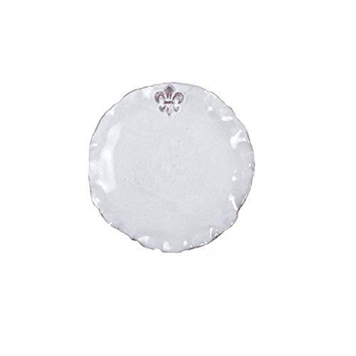 Abigails Fleur De Lis White Charger Plate
