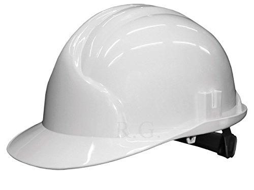 Unbekannt Bauarbeiterhelm Schutzhelm Bauhelm Schutzhelme Helm EN 397 53-61 cm 6 Farben (Weiß)