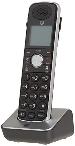 AT&T TL86009 Accessory Cordless Handset, Black/Silver | Requires an AT&T TL86109 Expandable Phone System to Operate