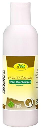 cdVet Naturprodukte privet Tiershampoo Konzentrat 200 ml - Nutztiere - Pflegeshampoo - empfindliche Haut - pflegt die Haut -  Fellglanz - beugt Schuppenbildung vor - nachfettende Wirkung  -