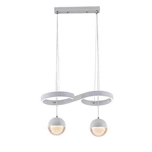 HIL 2 Flamming LED hanglamp twee kleuren verduistering spinnen bal rond glas design keuken eettafel kantoor woonkamer hal
