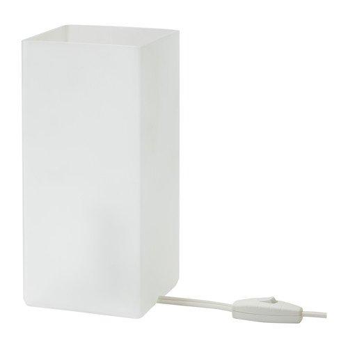 IKEA GRÖNÖ - Lámpara de mesa (cristal esmerilado, bombilla LED), color blanco