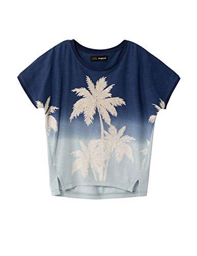 Desigual Mädchen TS_Eastbourne T-Shirt, Blau (Indigo 5095), 140 (Herstellergröße: 9/10)