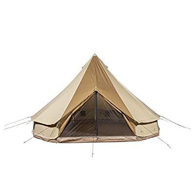 TETON Sports Sierra 16 Canvas Bell Tent; Waterproof 8 Person Family Camping Tent, Brown