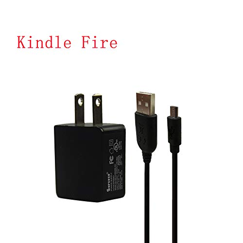 UL Listed AC Charger Fit for Amazon Kindle Fire HD 8 HDX 6 7 8.9 9.7 Inches Fire 7 8 10 Tablets Fire HD 8 Kids Edition with 5Ft Power Supply Adapter Cord Charging Data Cable